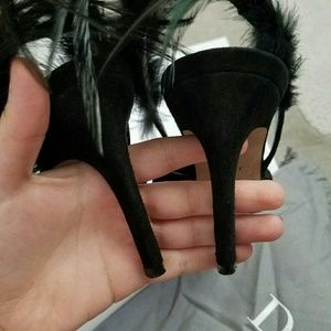 5f4dc9450b5 Dior Ethnie Suede and Feather Slingback Pumps 38